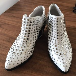 1. State Studded White Lexey Bootie